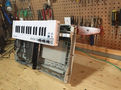World's First HP Scanjet 4C Keytar + Instructions on How to Build a Musical Stepper Motor in 60 sec