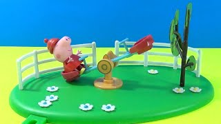 Unboxing Peppa Pig * Seesaw Playground Playset * Toy Collectable Figures
