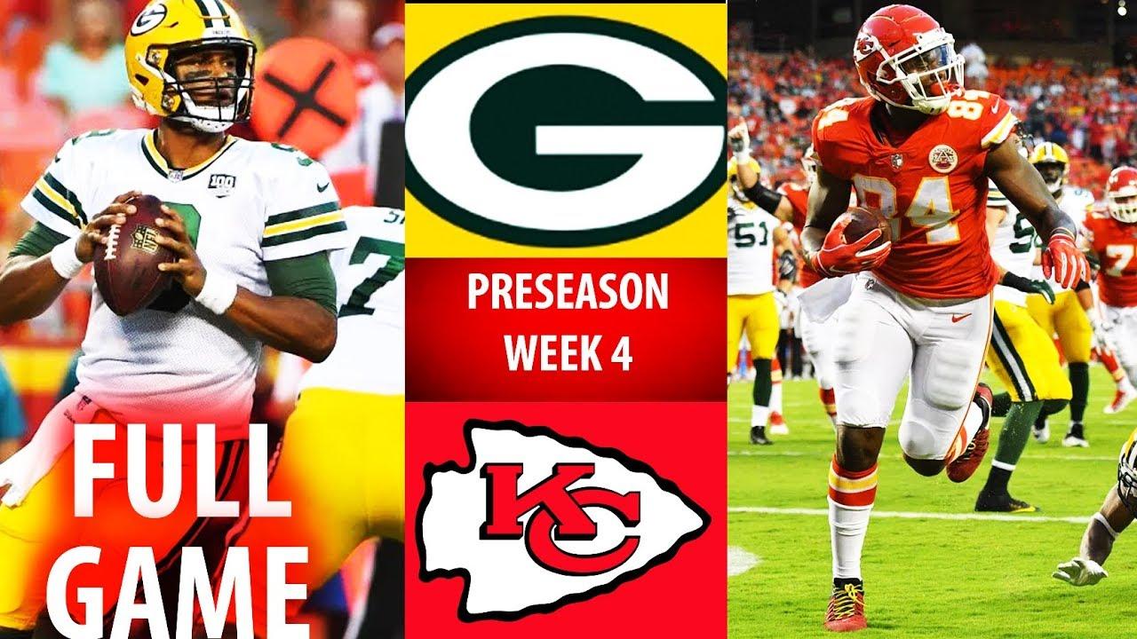 2018 GB Packers Vs KC Chiefs Preseason Week 4 YouTube