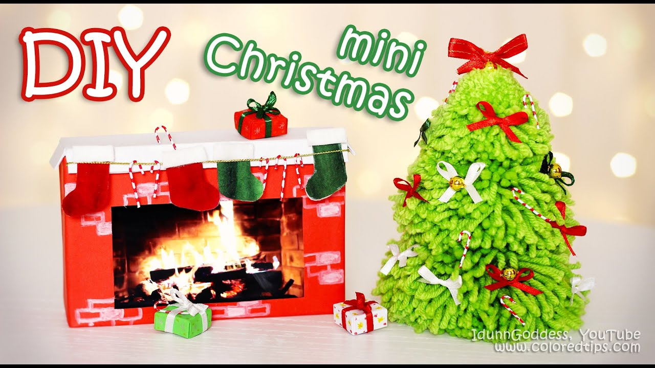 diy mini christmas decorations tiny holiday decor ideas youtube - Miniature Christmas Tree Decorations