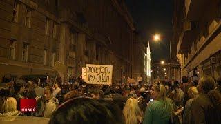 Hajnalig tartott a tüntetés a CEU-törvény ellen