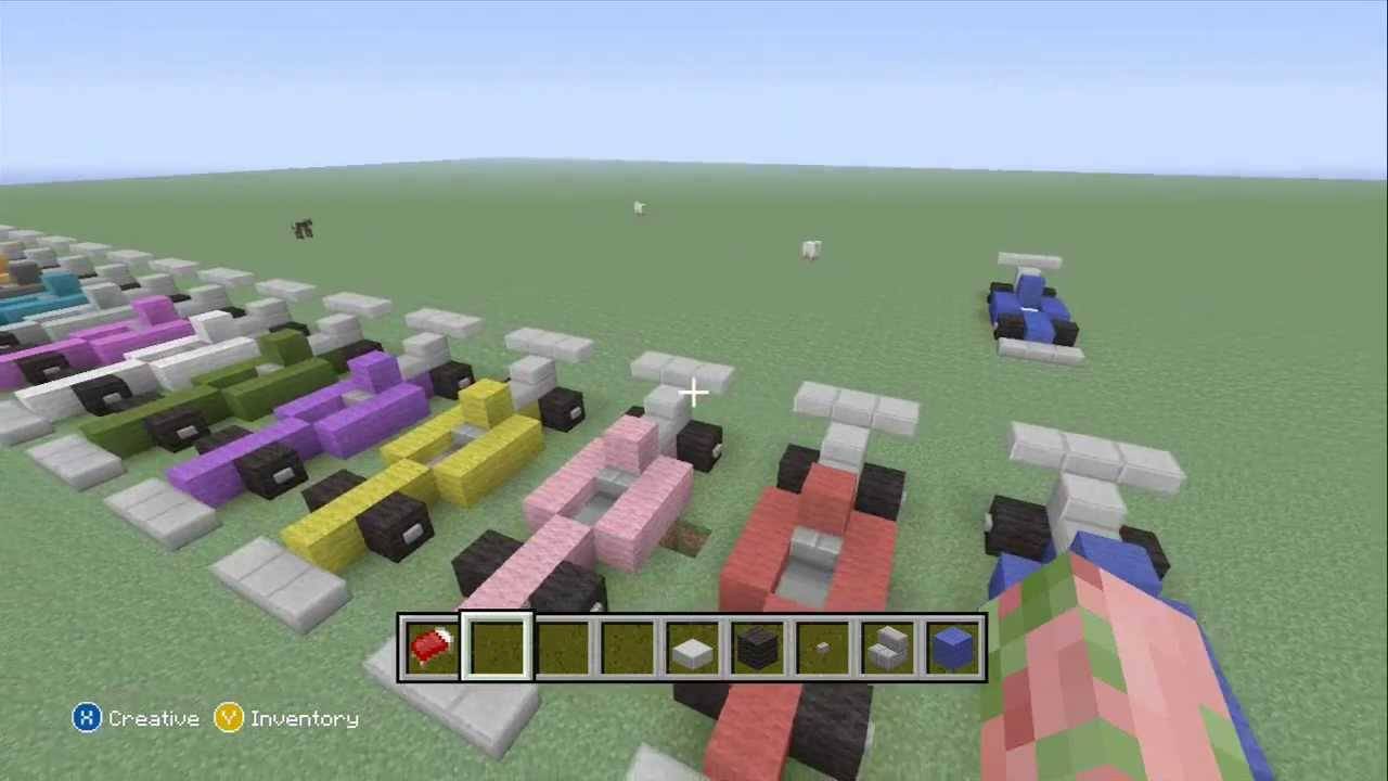 Minecraft How To Make An Formula Race Car Youtube
