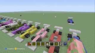 Minecraft  how to make an formula 1 race car