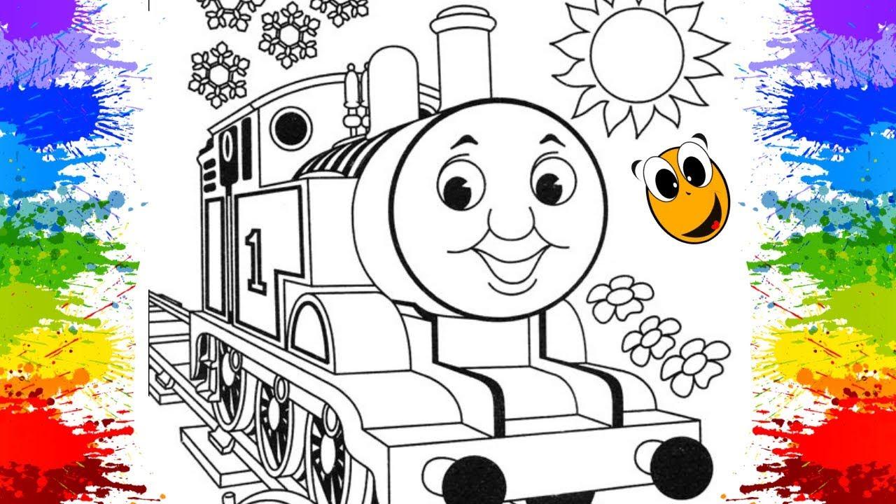 Como Pintar E Colorir Trem Thomas E Seus Amigos Criancinhas