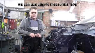 Laser leveling tool for body repair. Лазерный уровень при ремонте кузова.