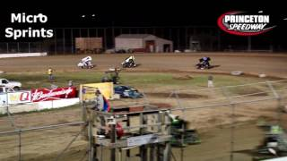 Princeton Speedway UMSS Micro Sprint Highlights