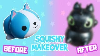 Squishy Makeover DIY | How To Make Cute Toothless Squishy Without Puffy Paint