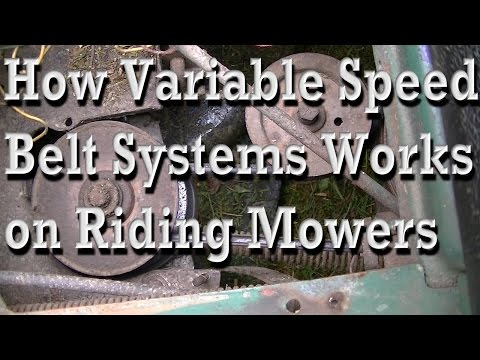 How the Variable Speed Belt System Works on Riding Mowers