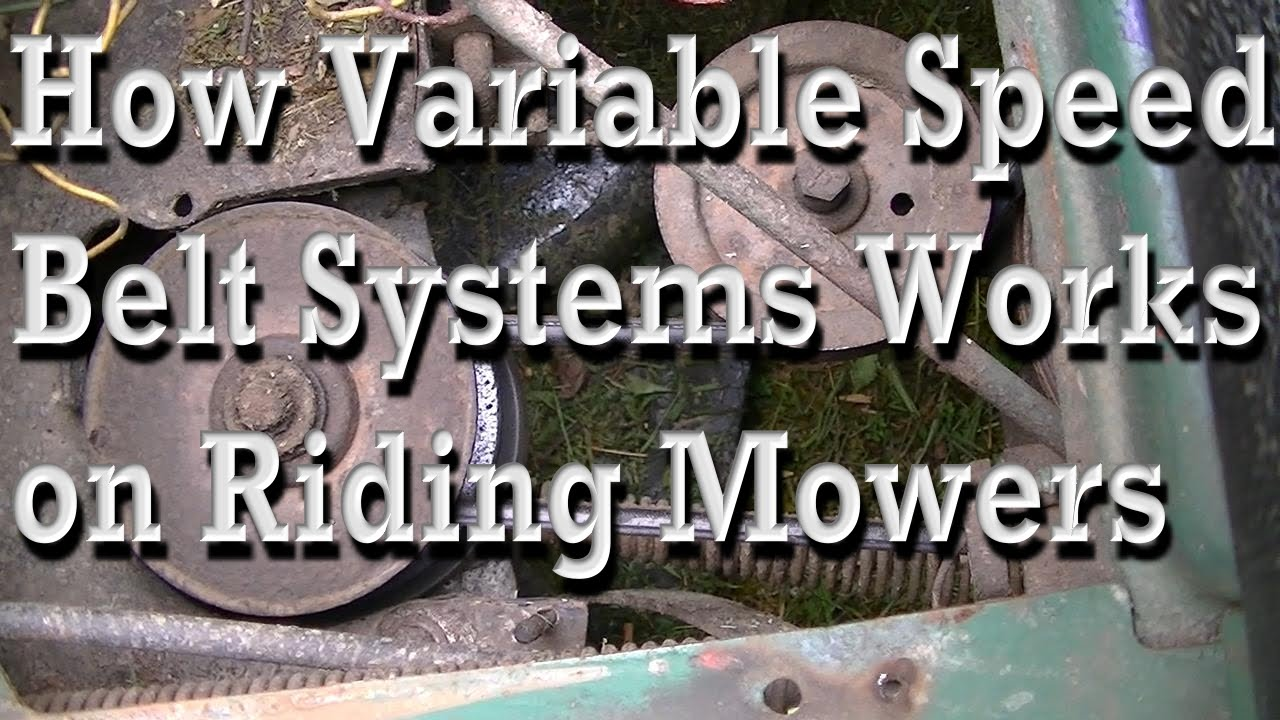 Belt System Works On Riding Mowers