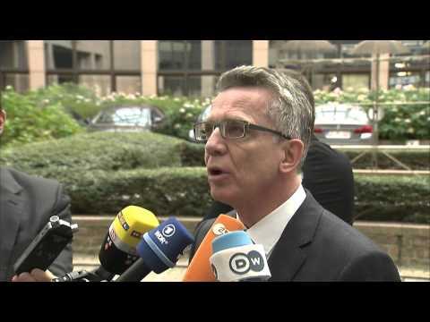Bundesinnenminister beim Sonderrat der EU-Innenminister (Doorstep)