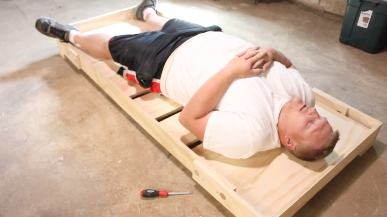 DIY Portable Bed Frame (Camping/Guest) - YouTube