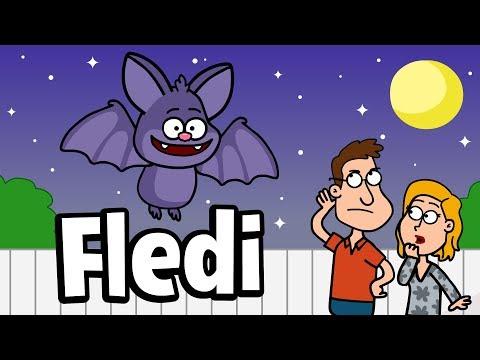♪ ♪ Kinderlied Fledermaus  Fledi Fledermaus  Hurra Kinderlieder