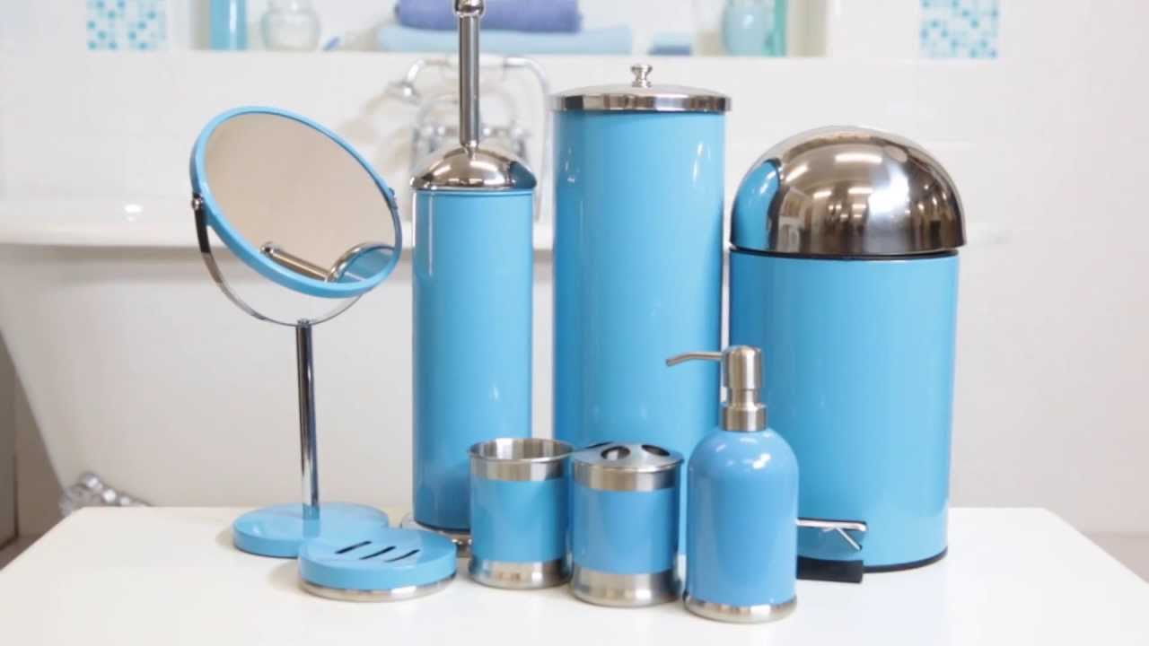 teal bathroom accessories.  24studio 8 Piece Bathroom Accessories Set YouTube
