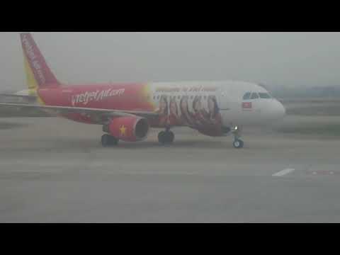 Cận cảnh sân bay nội bài trên chuyến bay VietJet Air