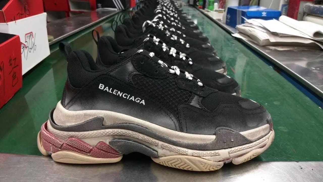 8d05243c8221 Balenciaga Triple S Trainer Bred Black Red Review! - YouTube