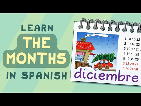 Learn the Months of the Year: Meses del año - Calico Spanish Songs for Kids