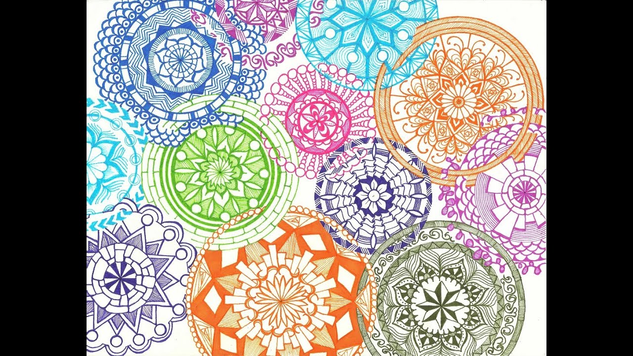 Overlapping Interlocking Intricate Mandalas - YouTube