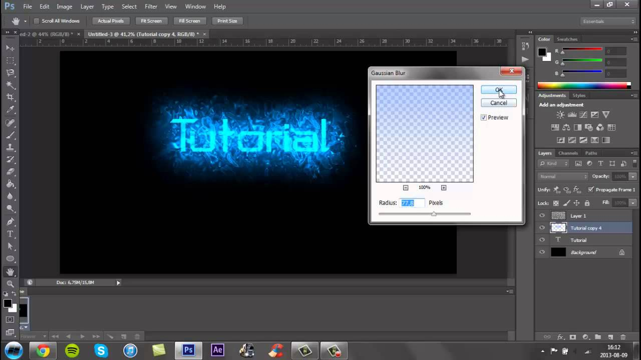 How to Make a Cool YouTube Background In Photoshop CS6 - 2013 ...