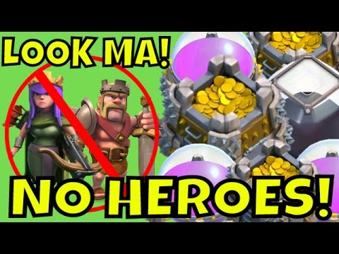 FARMING BIG WITHOUT HEROES | Clash Of Clans | GIANT + HEALER + VALKYRIE Farming