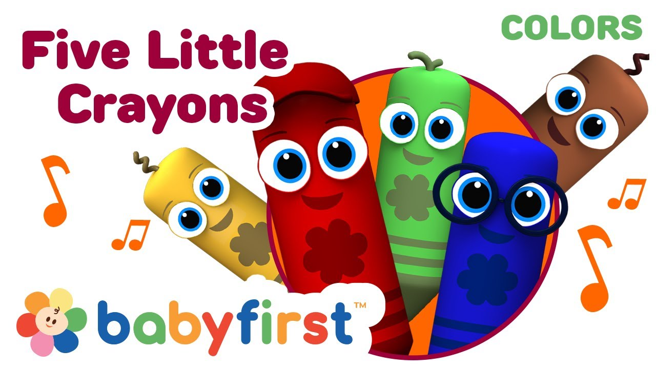 Five Little Crayons | 3D Rhymes for Kids | Color Crew ...