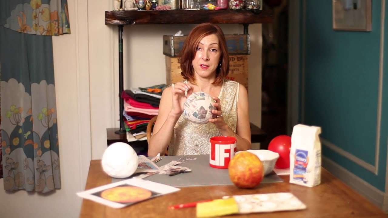 Paper Mache Model of the Planet Venus : Crafty Days - YouTube