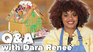 Dara Reneé From HSM: The Musical: The Series Answers Questions While Decorating A Gingerbread House