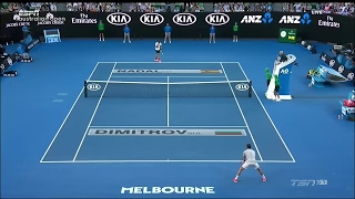 australian open 2017 semifinal nadal/dimitrov best points HD french/français