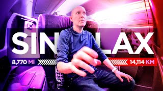 Ultra long haul! Singapore Airlines A350 business class SINLAX