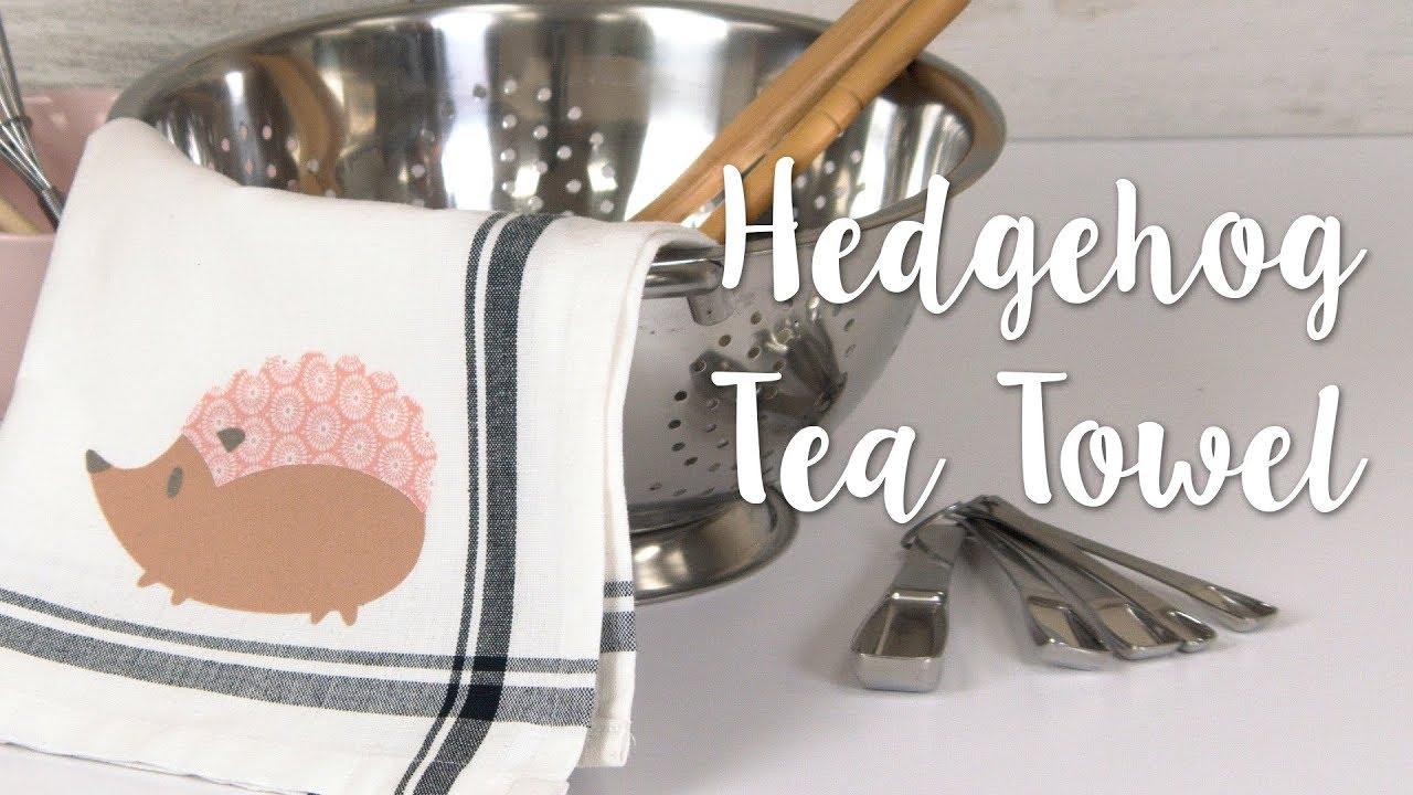 How to Make Hedgehog Tea Towels! Cute 5-Minute DIY