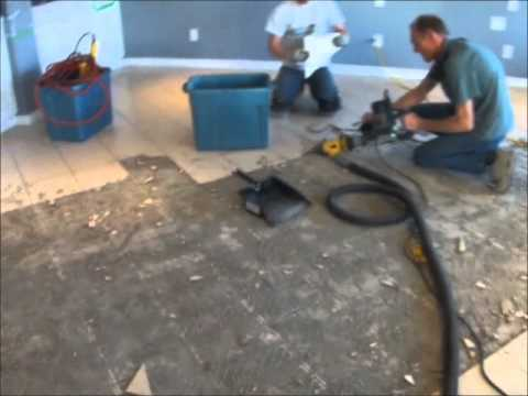 Dust Free Tile Thinset Removal Calgary Edmonton Vancouver