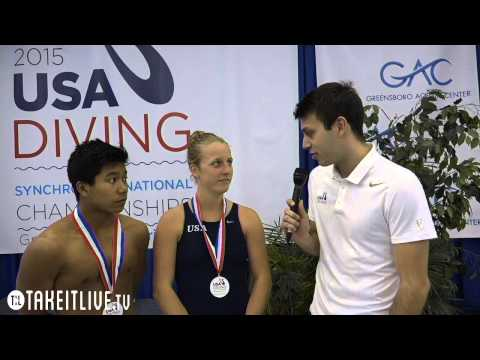 3m Mixed Awards Jordan Windle, Abby Johnston - 2015 USA Diving Synchronized National Championships