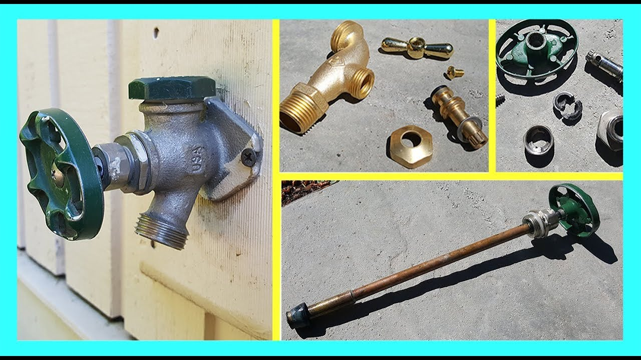 how to fix a leaky outdoor faucet remont sadovogo krana vody