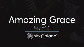 Amazing Grace (Key of C - Piano Karaoke Instrumental)