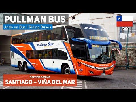 Ando En Bus | Viaje Pullman Bus, Stgo - Viña Del Mar + Marcopolo Paradiso 1800 DD New G7 M. Benz