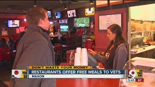 Local restaurant owners offering free meals to vets on Veterans Day