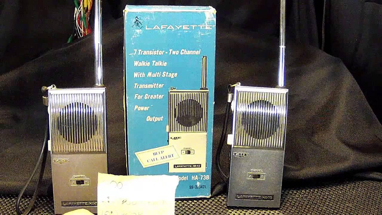 Vintage lafayette radio electronics walkie talkies model ha 73b vintage lafayette radio electronics walkie talkies model ha 73b youtube asfbconference2016 Image collections