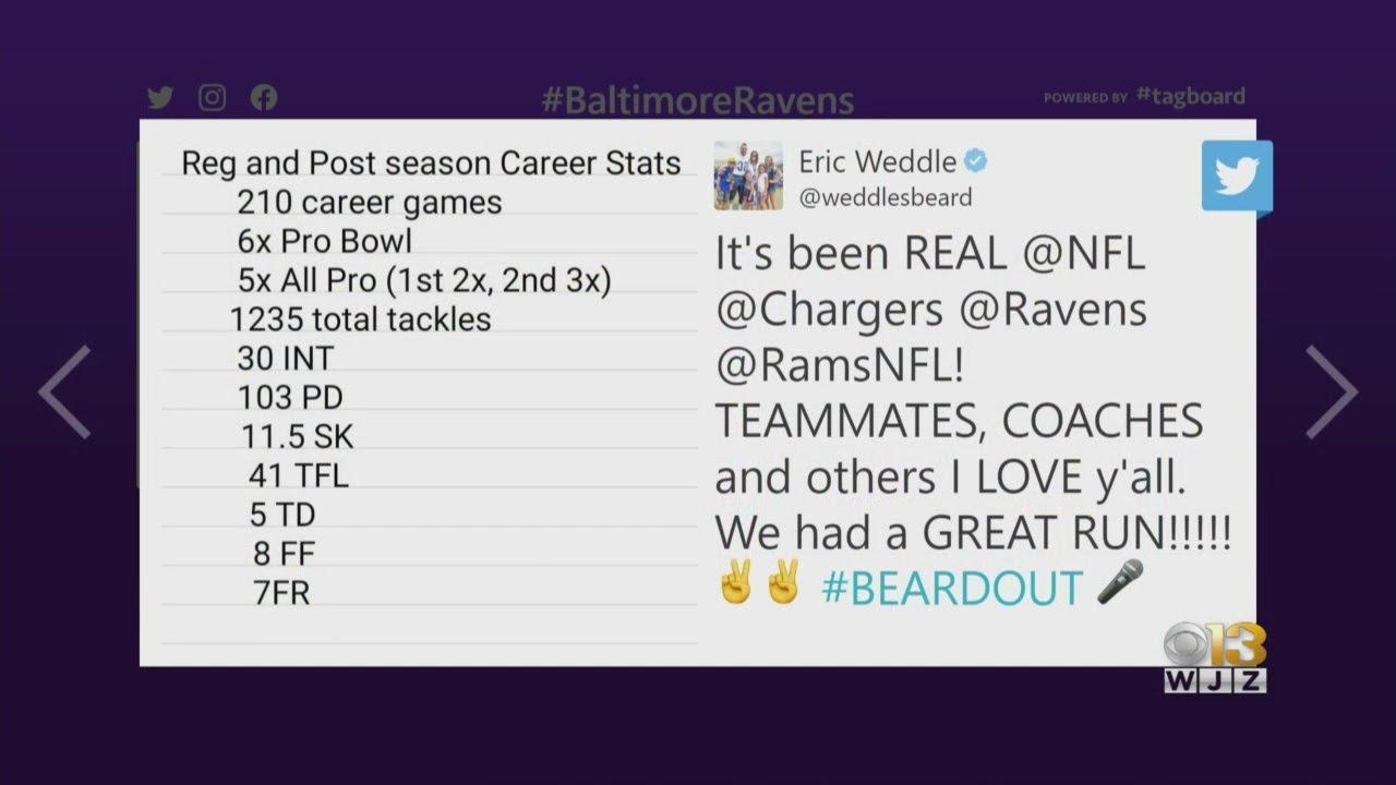 Former Ravens Safety Eric Weddle Retires