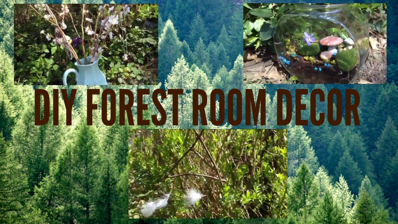 diy forest room decor youtube. Black Bedroom Furniture Sets. Home Design Ideas