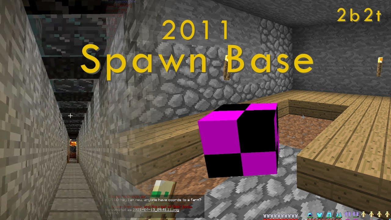 The 2011 Spawn Base that Barely Survived - 2b2t