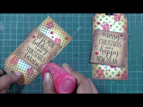 Tubby Craft | Vintage Christmas Cards | Tutorial by Archisha | Stamping and Stencilling thumbnail
