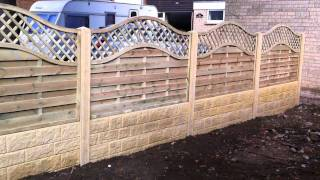 Omega Lattice Top, Double Sided Gravel Boards, Concrete Posts