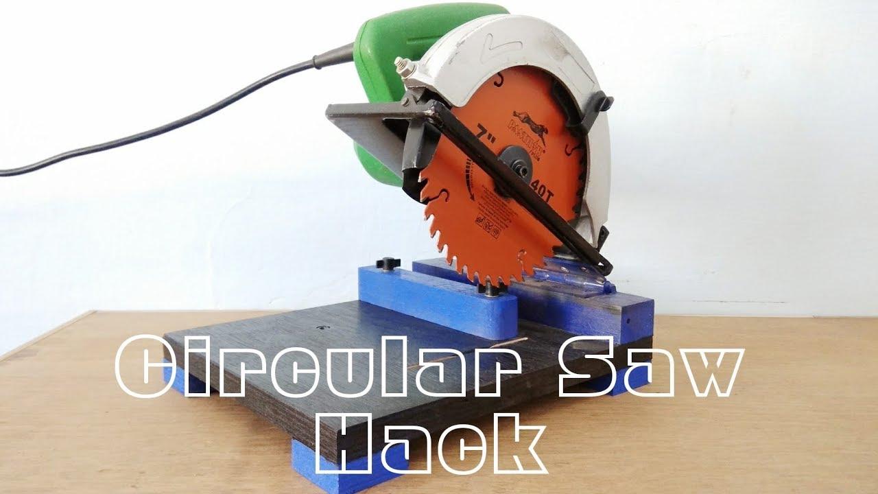 Circular Saw Hack Make A Mini Chop Saw Machine Youtube