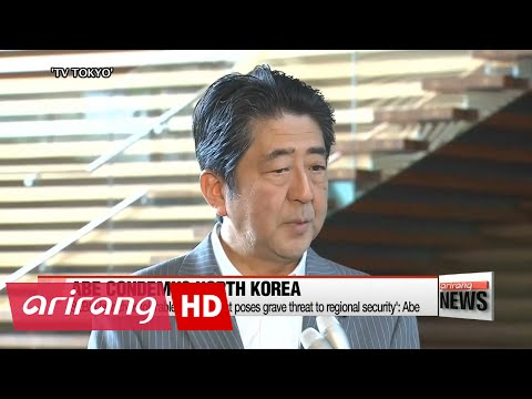 Japanese PM Abe denounces N. Korea's SLBM launch