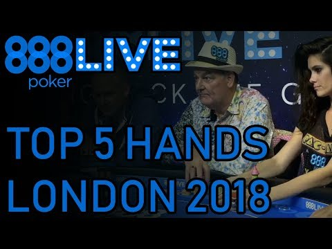 Top 5 BEST Poker Hands - 888poker LIVE Kickoff London