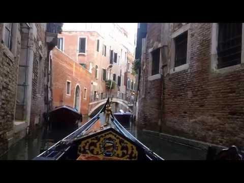 Beautiful Gondola Ride in Venice, Italy 6-26-2015 HD