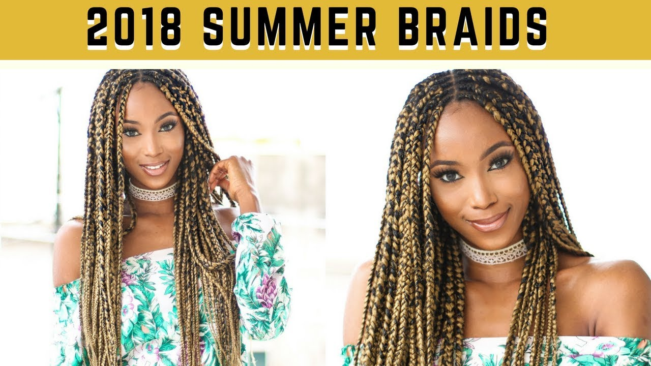 Braids Hairstyle Two Toned Ombre Diy Braids For Summer 2019 Youtube