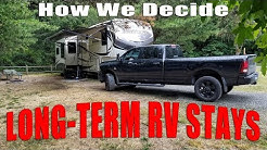 Criteria for Long-term RV Park Campground Stays - How we determine where to stay
