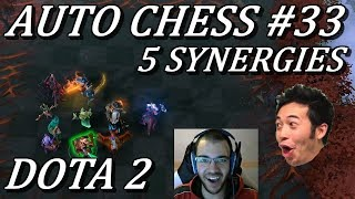 Damage, CC, All In 5 Synergies | Auto Chess Gameplay Commentary #33 Dota 2