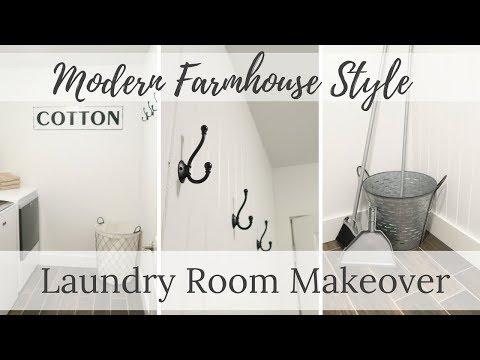 Laundry Room Makeover | Modern Farmhouse Style
