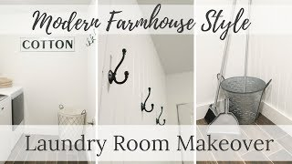 Laundry Room Makeover | Modern Farmhouse Style